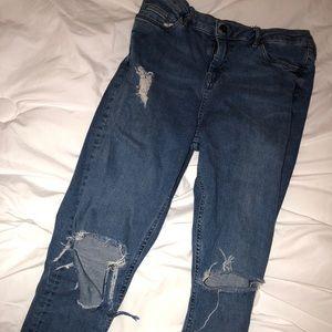 Topshop Distressed Jamie Jeans